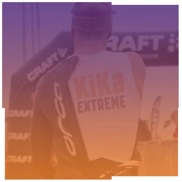 KiKa Extreme atleet is bijna bij de finish van IRONMAN 70.3! Nog even en zijn uitdaging voor KiKa zit erop!
