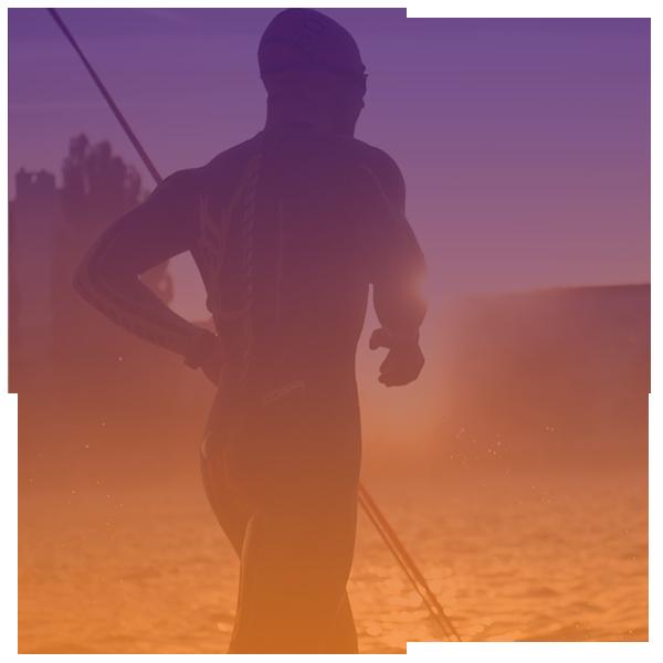 triatleet loopt de IRONMAN 70.3 voor KiKa Extreme
